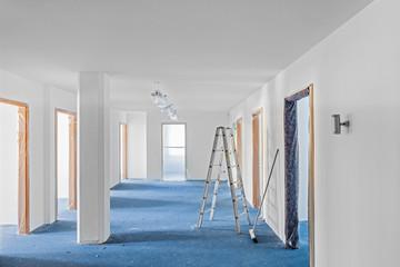 renovieren von Büroräumen Baustelle