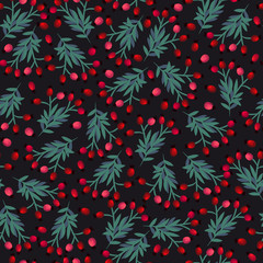 Seamless pattern with cute simple flowers. Floral pattern for textiles, packaging, Wallpaper, covers.