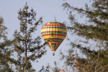 Santa Rosa, California is the largest city in California's Redwood Empire, Wine Country and the North Bay - air balloon.