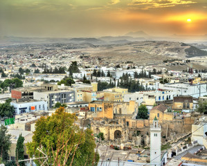 Sunset above El Kef, a city in northwestern Tunisia