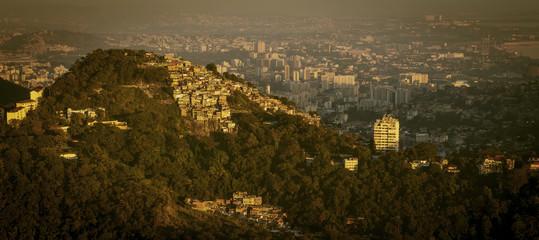 Favela and Rio de Janeiro skyline, Brazil