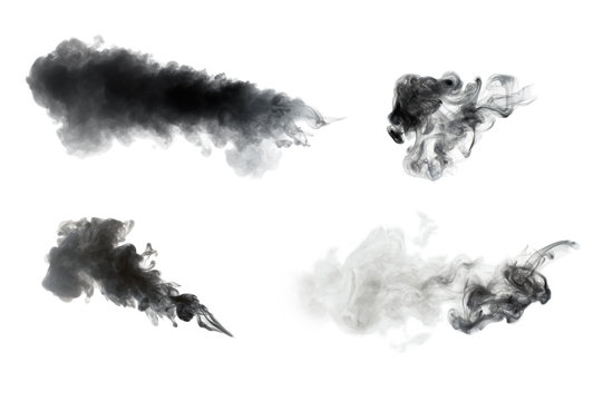 smoke isolated on white