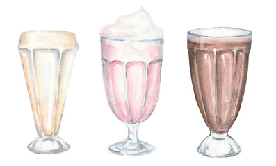 Watercolor milkshake