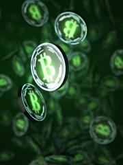 Artwork of Bitcoins