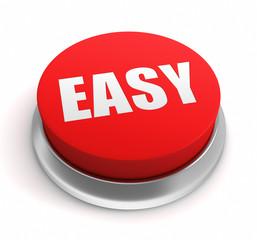easy push button concept       3d illustration