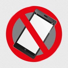 Mobile Devices Forbidden - Editable Vector Icon