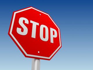 stop road sign concept       3d illustration