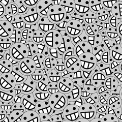 background of emoticons in gray color