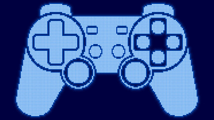 Pixel game controller icon