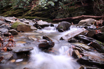 Nature Photography of Slow Shutter Speed Riverscape or Waterscape in the Smokies Mountains