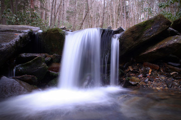 Small Fairytale River Waterfall in the Smokey Mountains