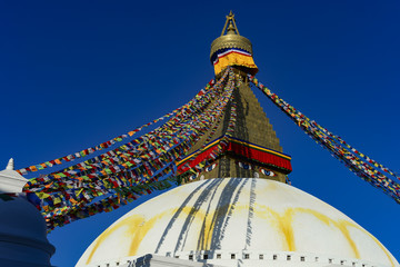Fotobehang Nepal Kathmandu, Great Stupa, Nepal, Buddhist Shrine, December 2017