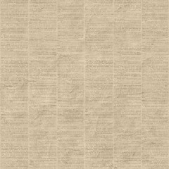 Vintage newspaper seamless pattern