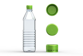 3d illustration of plastic bottle isolated on white