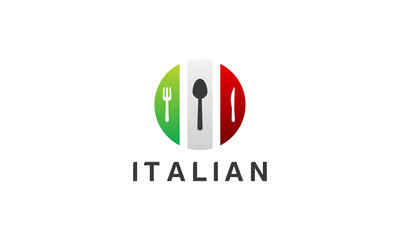 Italian Food logo designs vector