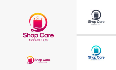 Shop Care logo designs vector, Shop Service logo template