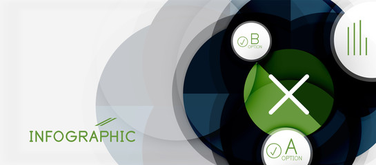 Paper geometric circle banner template