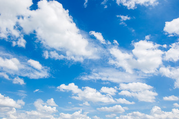 Beautiful group of clouds in the blue sky background.