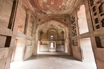 Inside Agra Fort in India