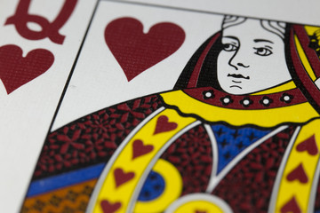 A Queen of Hearts from a Deck of Cards