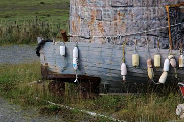 Boat Graveyard in Homer, Alaska