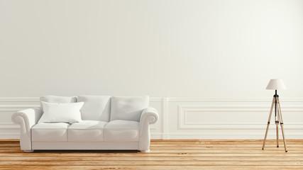 Empty room interior - Scandinavian interior. 3d rendering