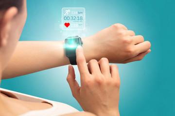 Hand smartwatch.