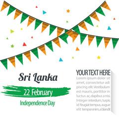 Independence Day of Sri Lanka Design Illustration Template
