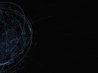 3d illustration of digital virtual planet Earth