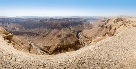 Hiking in Dead Sea area in Israel