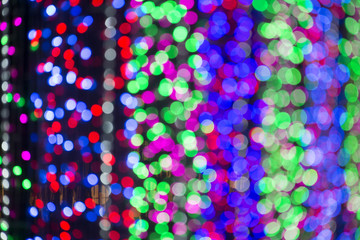 Abstract ball lights view background. Light blur background.