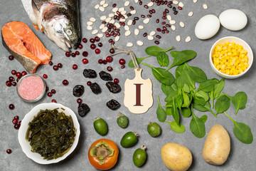 Fototapeta Food is source of iodine obraz