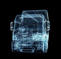 Digital Truck. The concept of digital technology