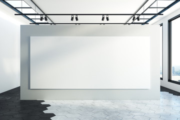 Interior with empty canvas