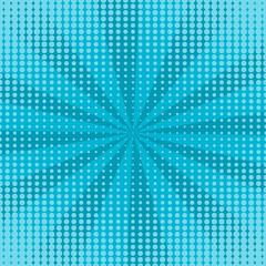 Blue rays comic pop art retro background