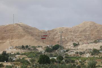 Jericho-Seilbahn auf den Berg der Versuchung. Jericho, Palästina. Israel