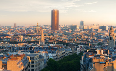 Fototapete - Panoramic view of Paris
