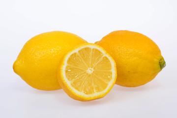 fresh and delicious lemon isolated on white background