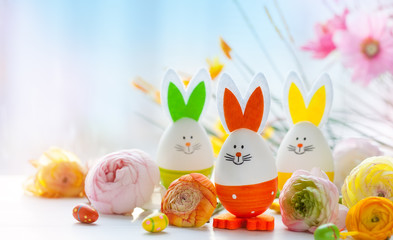 Easter funny rabbits