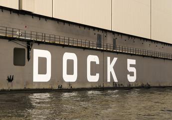 Dock 5 in Hamburg harbor