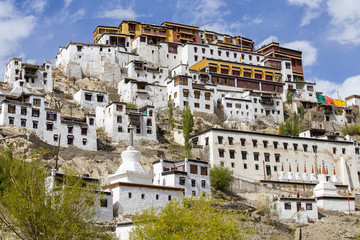 Thiksey Buddhist Monastery near Leh in Ladakh, Kashmir, India