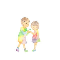 妖精の兄妹、葉