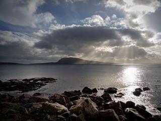 Blick auf Nolsoy, Färöer Inseln