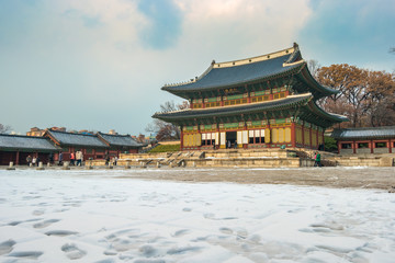 Changdeokgung palace in Seoul city, Korea