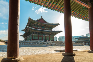 Gyeongbokgung Palace in Seoul city, South Korea