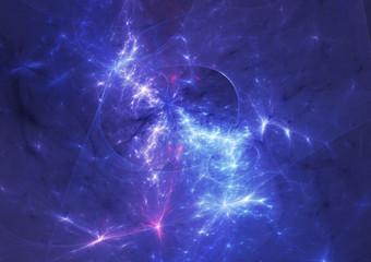 Blue plasma and energy electrical lightning background