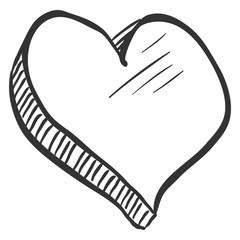 Vector Abstact Love Symbol - Heart Sketch Illustation