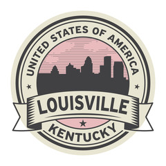 Stamp or label with name of Louisville, Kentucky