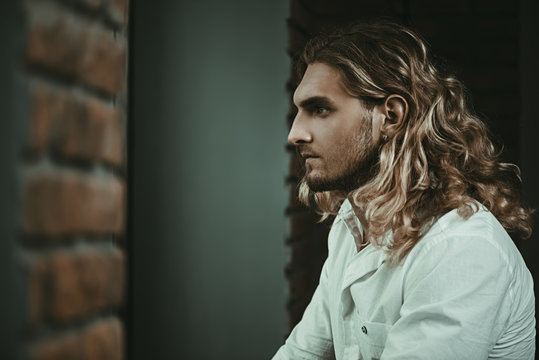 guy with long hair
