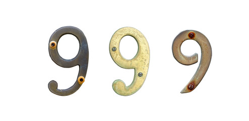 Old house number signs